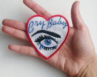 Darkside4(p)  heart cry baby heart Embroidered patch