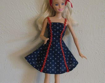 Barbie doll clothes-red/white/blue