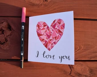 Geometric Love Card