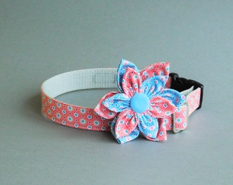 Romantic dog flower with collar for girl for date Fancy female pet gift Small floral for puppies Nice teacup accessories Cat items