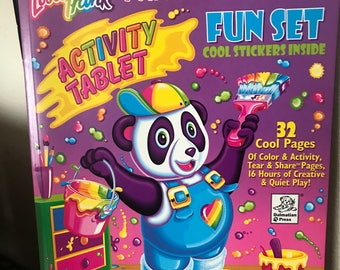 Vintage Lisa Frank 32 Page Panda Painter Activity Book with Stickers