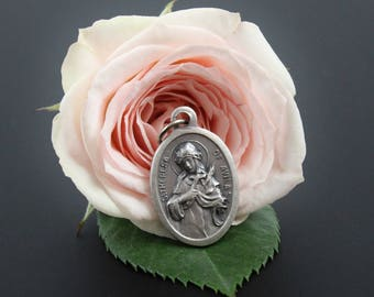 Saint Theresa of Avila Pray for Us Religious Medal - Catholic Patroness of Spain - Jewelry Supply Made in Italy (H03)