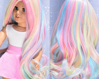 "Custom Doll Wig Deluxe Heat safe fibers for 18"" American Girl Dolls, My Life, Journey Girls"