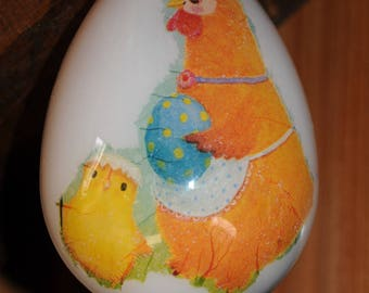 Plastic Easter egg 12cm, detachable