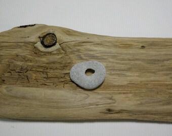 "Small 1.4""/3.5cm Naturally Holed Beach Stone - Hag Stone - Pebble with natural hole - Decorative Beach Find - Odin Stone Talisman # 198"