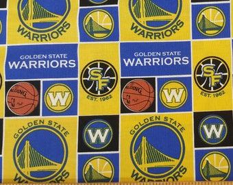 Quarter Yard ** PRE CUT** NBA Golden State Warriors Cotton Fabric (IST2)