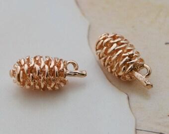 5 of 14k gold filled acorn charm pendant 19*8mm BQ1