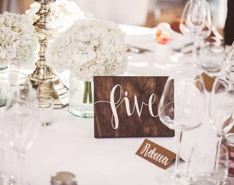 Rustic Wooden Wedding Table Numbers