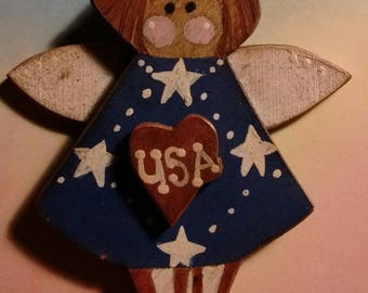 Patriotic angel ornament