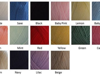 Woolcraft Aran - 400g ball - various colours available