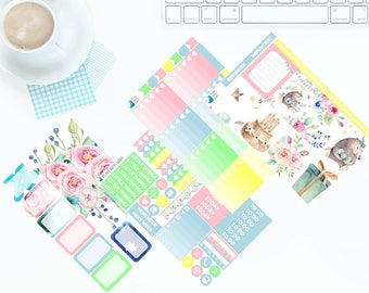 Birthday Party Pastels 4 Page Weekly Kit for Erin Condren Vertical LifePlanner