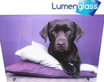 Personalised LumenGlass Photo Pane with Stand Personalised Gifts