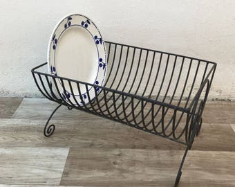 Vintage Stand Dish Drying Rack Shelf Sink Kitchen Organizer dryer 1902185