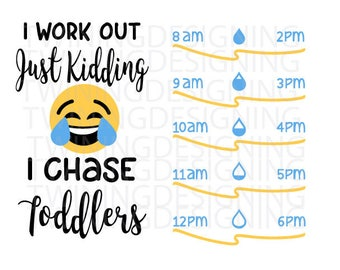 I chase toddlers water tracker   Water tracker SVG PNG DXf file digital file cricut file silhouette file   emoji water tracker   emoji svg