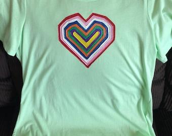 Colorful Heart Tshirt!