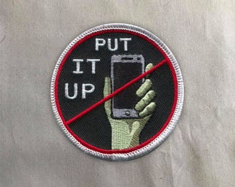 Unplug Patch   Sew on   Embroidery   Patches for Jackets   Anti Social Patch   Anti Social Patch   Tumblr Patch   Back Patch   iPhone Patch