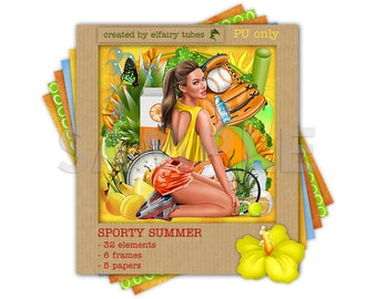 Sporty Summer Digital scrapset