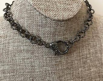gunmetal chain choker
