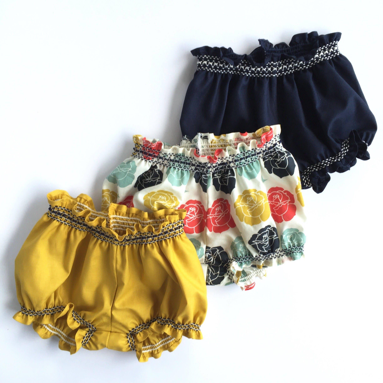 Organic Baby Girl Bloomers Organic Baby Bubble Shorts Boho Baby