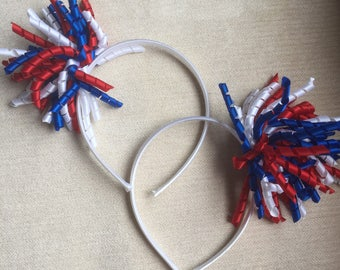 Red, White and Blue Curlies headban