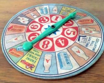 Vintage Board Game Spinner