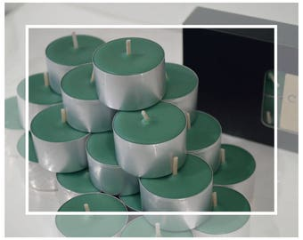 20x Hand Poured Soy and Beeswax Tealight Candles (Tealights) : Frankincense & Myrrh