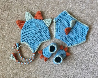 Newborn Dinosaur Outfit, Baby Dinosaur Outfit, Newborn Dinosaur Crochet, Baby Dinosaur Crochet, Dinosaur Crochet Outfit