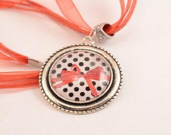 Destash: Fancy red bow tie necklace