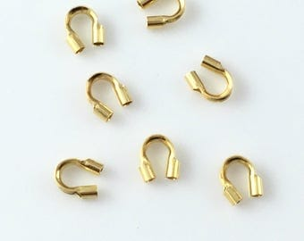 24K Gold Plated Sterling Silver Wire Guardians Findings PK10 PK50