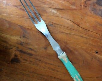 A  J USA / AJ fork / AJ vintage / farmhouse kitchen / vintage kitchen / Vintage A and J cooking fork / Vintage meat fork /steel vintage fork