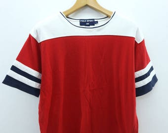 Vintage Polo Sport Ralph Lauren T-Shirt Fashion Casual Designer Street Wear Top Tee Size L