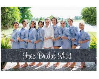 Set of 9 Bridesmaid Shirts-Brides Shirt-Button Down Shirts-Monogrammed-Bridesmaid Shirt-Bridesmaid Oxford Shirts