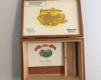 Antique Cigar Box Gisbert Hand Made in Honduras