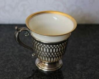 Sterling Silver Lenox Demitasse Cup