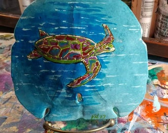 Sea turtle on Sandoller