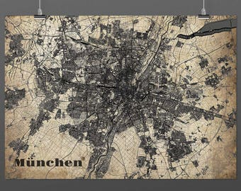 Munich DIN A4 / DIN A3 - print - turquoise