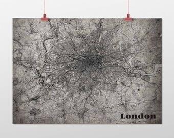 London DIN a4/din A3-print-old-school