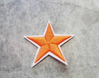 Orange Star Patch Iron on Applique