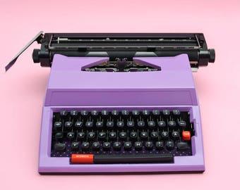 """Typewriter """"Janis""""// purple // purple typewriter // vintage typewriter// ultra violet // working typewriter // graduation gift //"""