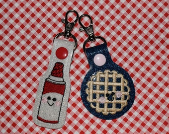 Pie and Whipped Cream Best Friend/ Perfect Pair (SET OF 2) Keychains