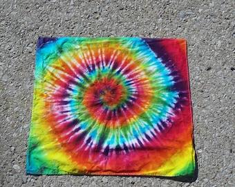 Rainbow tie dye bandana