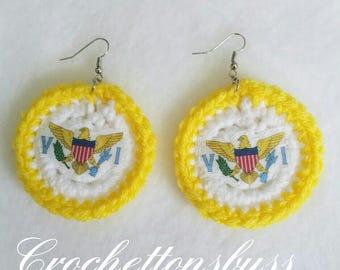 VI crochet earrings (medium)