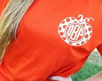 Pumpkin Monogram Shirt