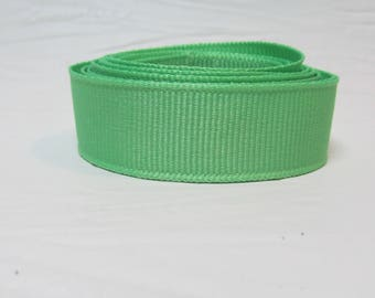 """Grosgrain ribbon 1"""" apple green sold by the yard"""