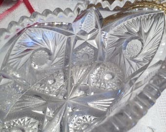 Condiment Dish 1920's to 1930 Pressed Glass