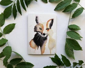 Watercolour Fox Greeting Card