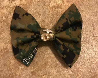 Woodland Bow - EGA Bow - Marines Bow - Military Bow - Hair Bow - Hair Accessories - Handmade Bow