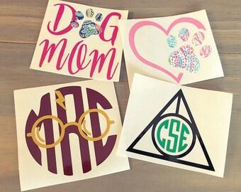 Harry Potter monogram decals