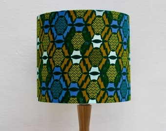 African Wax Print Fabric Lampshade Handmade Drum Lamp Shade