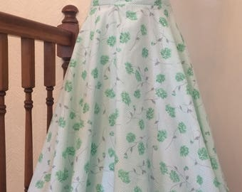 Handmade ladies vintage 1950's style full circle skirt size 12 32inch waist